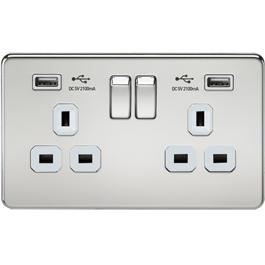 Screwless Switches & Sockets Polished Chrome