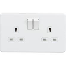 Screwless Switches & Sockets Matt White