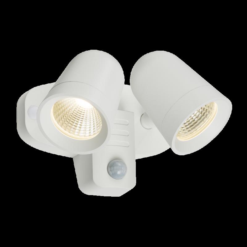 Ip65 Spot Knightsbridge Led Fltpw 230v White Twin 18w Floodlight yvmN0wn8O