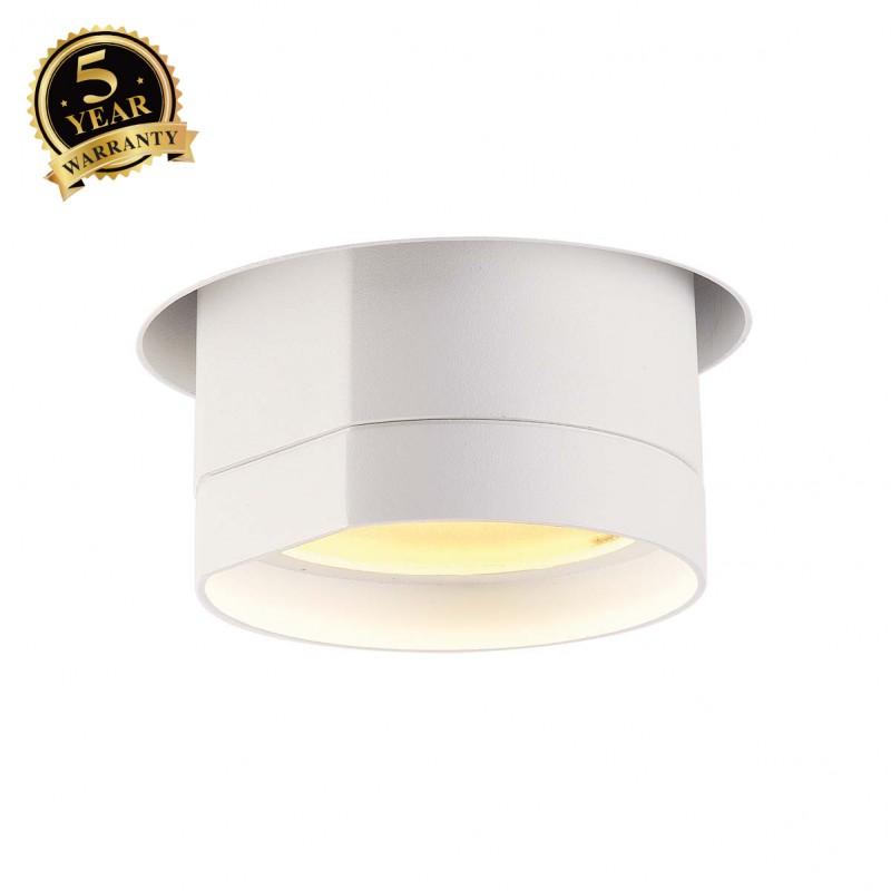 Shop Slv Bilas Recessed Ceiling Light Round Matt White 20w Cob Led 25 2700k 156401