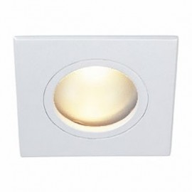 Dolix Out GU10 Square Downlight White Silver Chrome & Titanium 111141