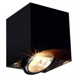SLV ACRYLIC BOX SINGLE QRB111ceiling light, square, black/translucent, max. 1x50W 117211