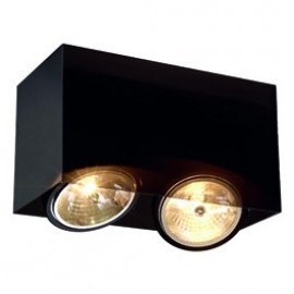 SLV ACRYLIC BOX DOUBLE QRB111ceiling light, black/translucent, max. 2x50W 117212