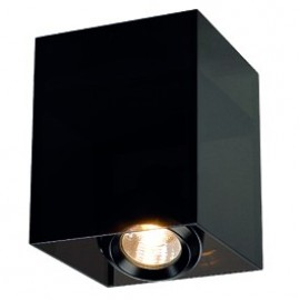 SLV Lighting Acrylbox 1 GU10 Ceiling Light Black / Translucent 117221