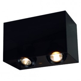 SLV Lighting Acrylbox 2 GU10 Ceiling Light Black / Translucent 117222