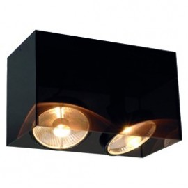 SLV Lighting Acrylbox 2 ES111 Ceiling Light Black / Translucent 117232