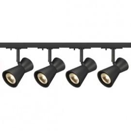 SLV Lighting 143340TK4 Diabo 35W 4 Light Track Kit Black