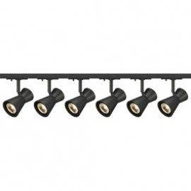 SLV Lighting 143340TK6 Diabo 35W 6 Light Track Kit Black