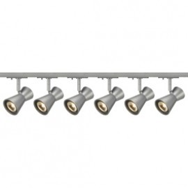 SLV Lighting 143344TK6 Diabo 35W 6 Light Track Kit Silver Grey