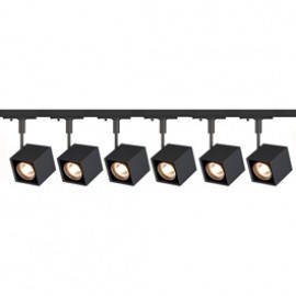 SLV Lighting 143350TK6 Altra Dice 50W 6 Light Track Kit Black