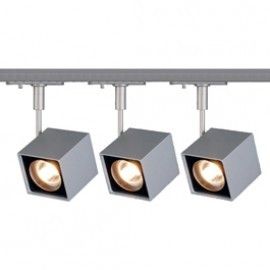 SLV Lighting 143354TK3 Altra Dice 50W 3 Light Track Kit Silver Grey