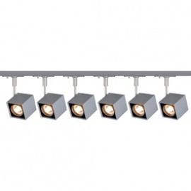 SLV Lighting 143354TK6 Altra Dice 50W 6 Light Track Kit Silver Grey
