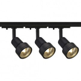 SLV Lighting 143390TK3 Puri 50W 3 Light Track Kit Black