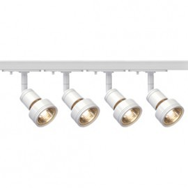 SLV Lighting 143391TK4 Puri 50W 4 Light Track Kit White