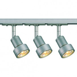 SLV Lighting 143392TK3 Puri 50W 3 Light Track Kit Silver Grey