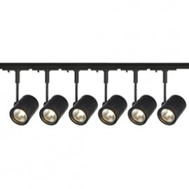 SLV Lighting 143440TK6 Bima 1 50W 6 Light Track Kit Black