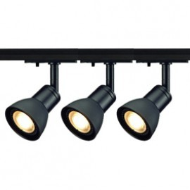SLV Lighting 143450TK3 Puria 50W 3 Light Track Kit Black
