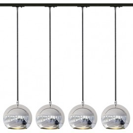 SLV Lighting 143620TK4 Light Eye ES111 Pendant 75W 4 Light Track Kit Chrome & Black