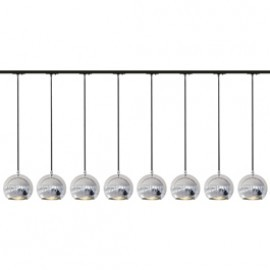 SLV 143620TK8 Light Eye ES111 Pendant 75W 8 Light Track Kit Chrome & Black