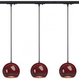 SLV Lighting 143626TK3 Light Eye ES111 Pendant 75W 3 Light Track Kit Wine Red & Black