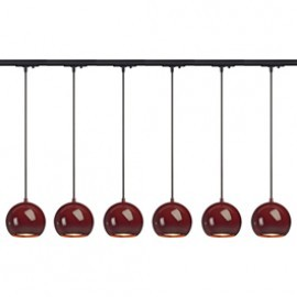 SLV 143626TK6 Light Eye ES111 Pendant 75W 6 Light Track Kit Wine Red & Black