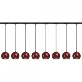 SLV 143626TK8 Light Eye ES111 Pendant 75W 8 Light Track Kit Wine Red & Black