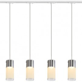 SLV Lighting 143901TK4 Commo PD-1 Pendant 13W 4 Light Track Kit White
