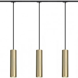 SLV 143963TK3 Enola B PD-1 Pendant 50W 3 Light Track Kit Brass & Black