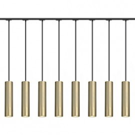 SLV Lighting 143963TK8 Enola B PD-1 Pendant 50W 8 Light Track Kit Brass & Black