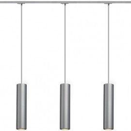SLV Lighting 143964TK3 Enola B PD-1 Pendant 50W 3 Light Track Kit Silver Grey