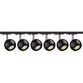 SLV Lighting 144010TK6 Light Eye 1 GU10 Spot 50W 6 Light Track Kit Chrome & Black