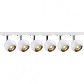 SLV 144011TK6 Light Eye 1 GU10 Spot 50W 6 Light Track Kit Chrome & White