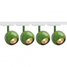 SLV 144015TK4 Light Eye 1 GU10 Spot 50W 4 Light Track Kit Fern Green & White