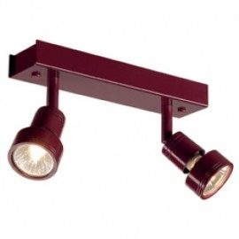 SLV PURI 2 ceiling light, wine red, 2x GU10, max. 2x 50W, incl.deco ring 147376