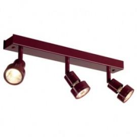 SLV 147386 Puri 3 3x50W Wall & Ceiling Light Wine Red