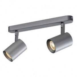 SLV 148514 Debasto LED 2x7W 3000K Wall & Ceiling Light Silver Grey