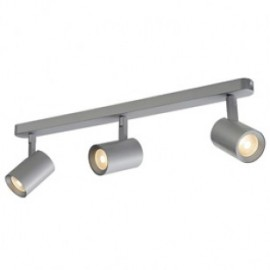 SLV 148524 Debasto LED 3x7W 3000K Wall & Ceiling Light Silver Grey