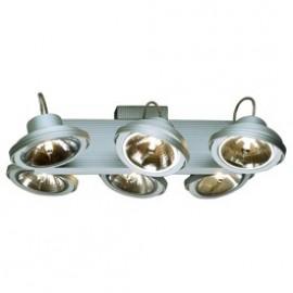 Tec 6 Karda Ceiling & Wall Light Silver Grey 149146