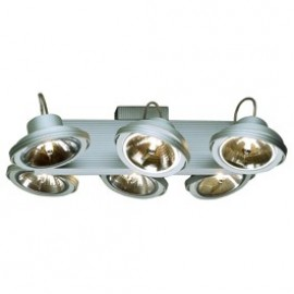 SLV Lighting Tec 6 Karda Ceiling & Wall Light Silver Grey 149146