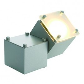 Square Dice I Ceiling & Wall Light Silver Grey 151132