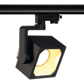 SLV Lighting Euro Cube DMLI 28w LED Warm White Eutrac 240v 3 Circuit Track Light Black 152720