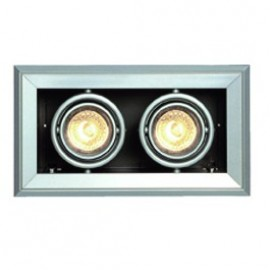 SLV Lighting Aixlight Mod 2 GU10 Downlight Silver Grey 154562