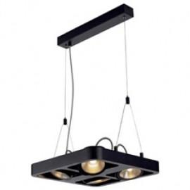 SLV Lighting 154930 Lynah LED 4x10W 3000K Pendant Light Matt Black DIMMABLE