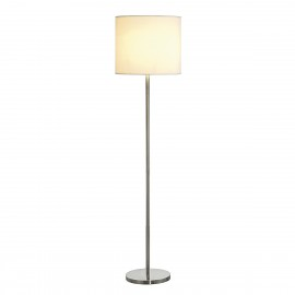 SLV Lighting Soprana SL-2 Floor Lamp Brushed Metal / Beige 155363