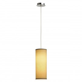 SLV Soprana  Pendant Light 3 Chrome / Beige Or White 155383