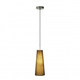 SLV Soprana Cone PD-1 Pendant Light Steel / Black 155760