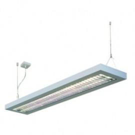 SLV Lighting Long Grill 2x28w Pendant Light Silver Grey 157514