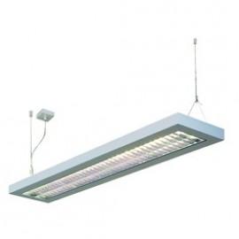 SLV Lighting Long Grill 2x54w Pendant Light Silver Grey 157524