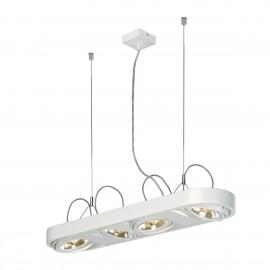SLV Lighting Aixlight R Long QRB111 Pendant Light White 159071