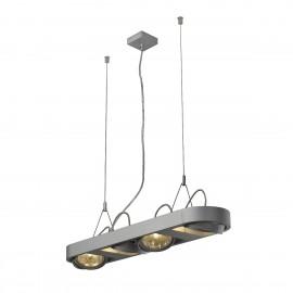 SLV Lighting Aixlight R Long QRB111 Pendant Light Silver Grey 159074